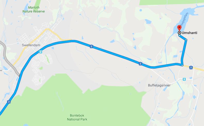 Umshanti Buffeljags - Location