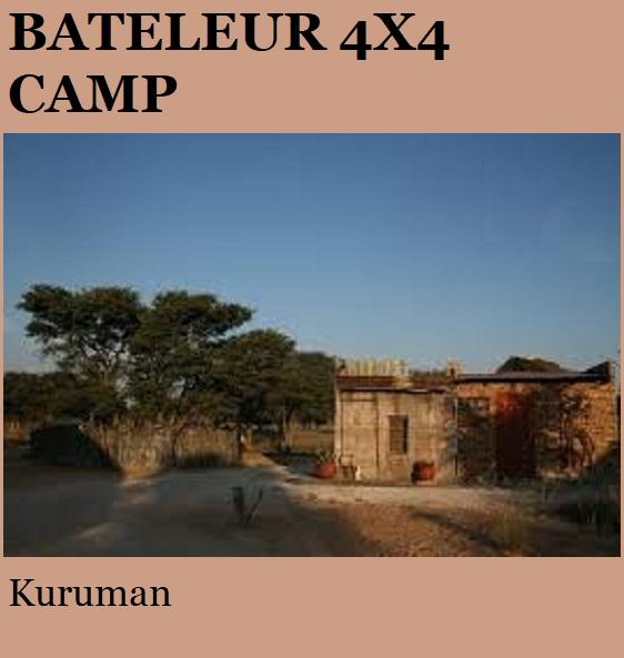 Bateleur 4x4 Camp - Kuruman