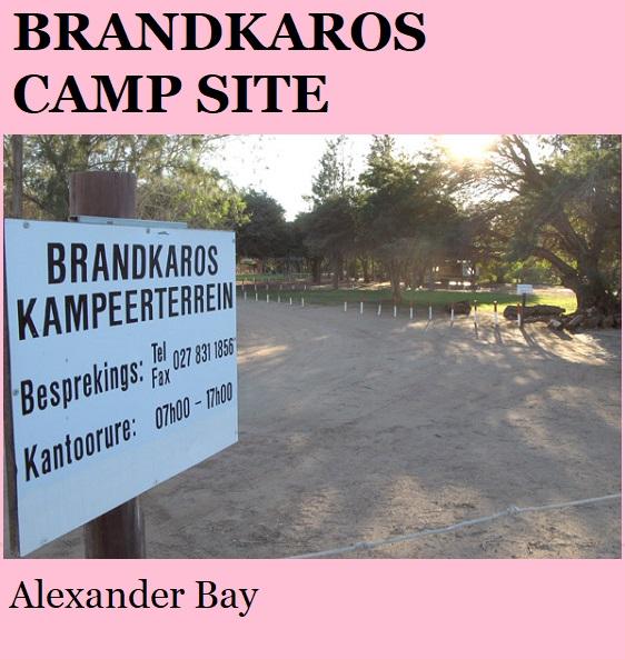 Brandkaros - Alexander Bay