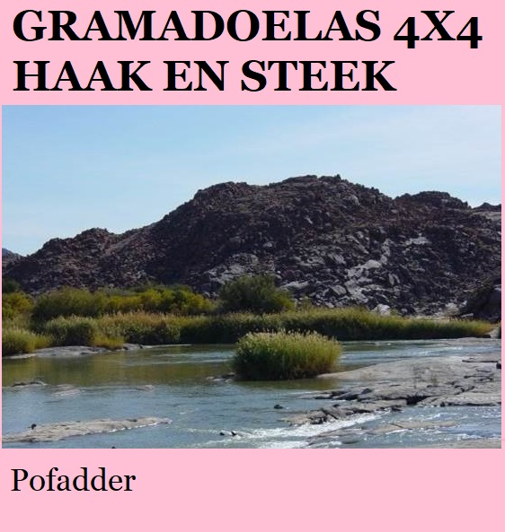Gramadoelas 4x4 - Pofadder