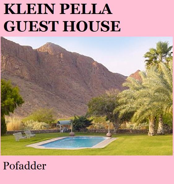 Klein Pella - Pofadder