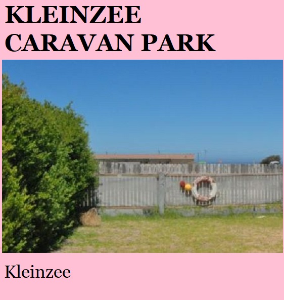 Kleinzee Caravan Park - Kleinzee - Namakwa