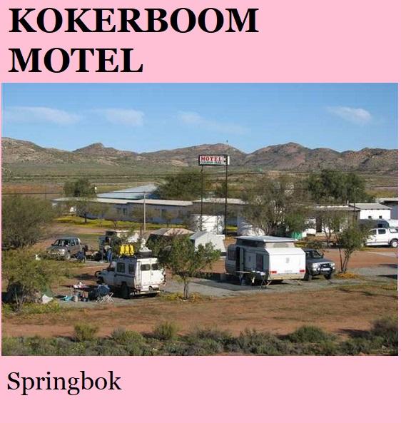 Kokerboom Motel - Springbok