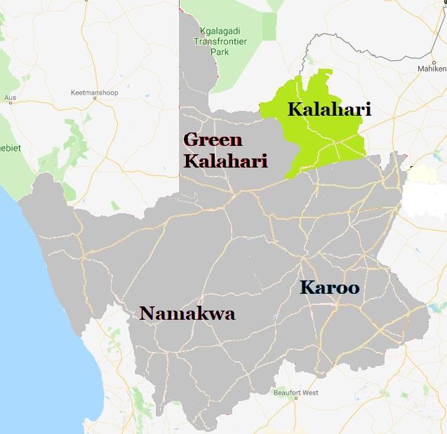 Map Kalahari - Northern Cape