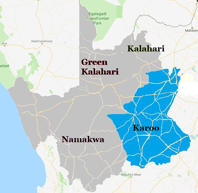 Map Karoo - Northern Cape