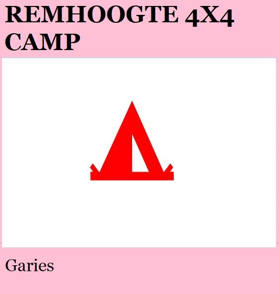 Remhoogte 4x4 - Garies