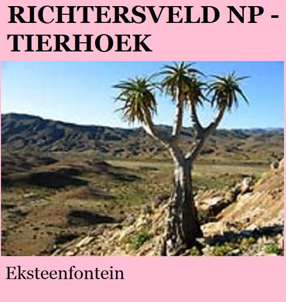 Richtersveld Tierhoek - Eksteenfontein