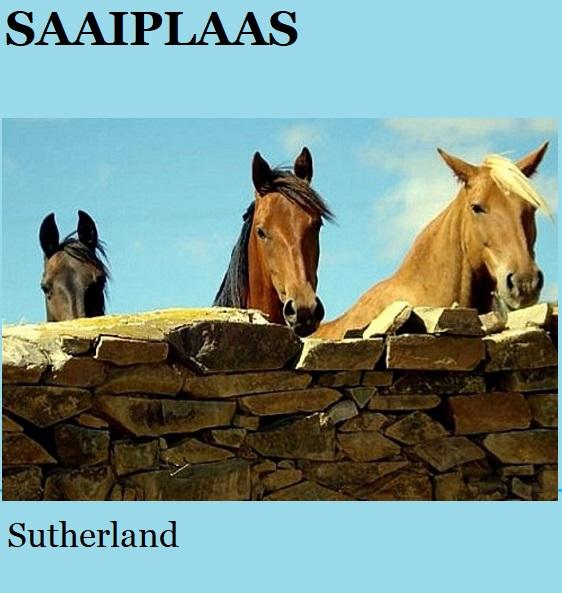 Saaiplaas - Sutherland