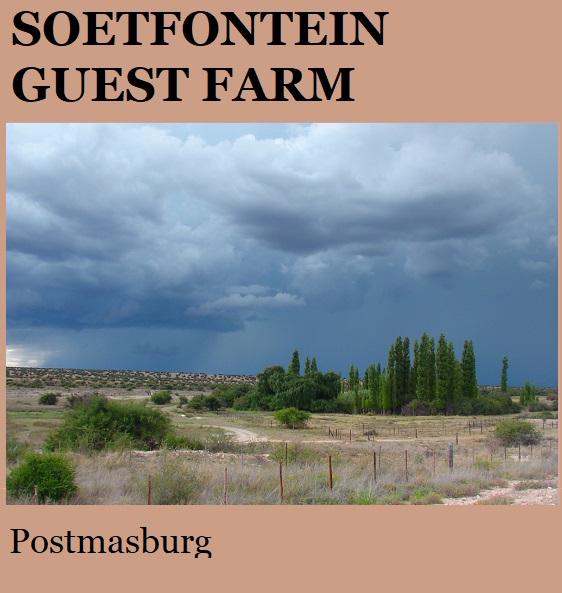 Soetfontein Guest Farm - Postmasburg