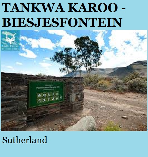 Tankwa Karoo Biesjesfontein - Sutherland