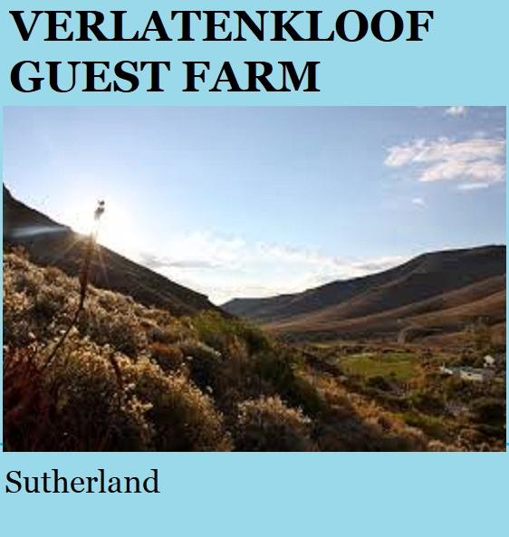 Verlatenkloof - Sutherland