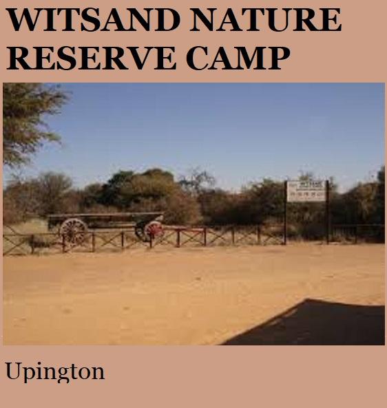 Witsand Nature Reserve - Upington