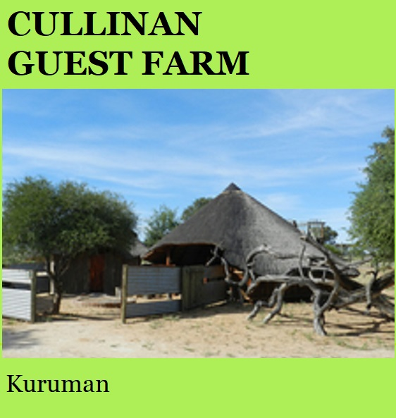 Cullinan Guest Farm - Kuruman