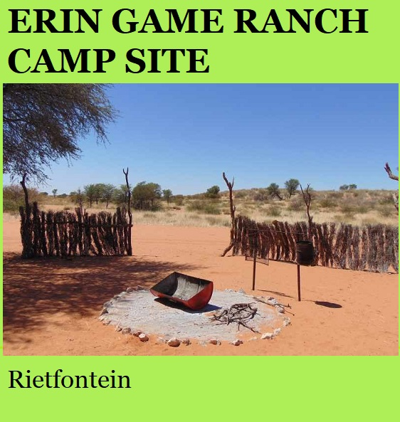 Erin Game Ranch Camp Site - Rietfontein