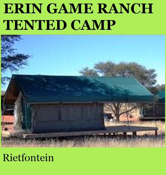 Erin Game Ranch Tented Camp - Rietfontein