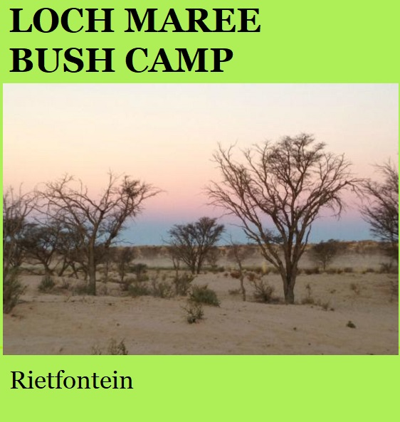 Loch Maree Bush Camp - Rietfontein