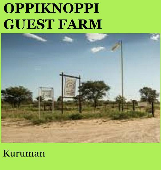 Oppiknoppi Guest Farm - Kuruman