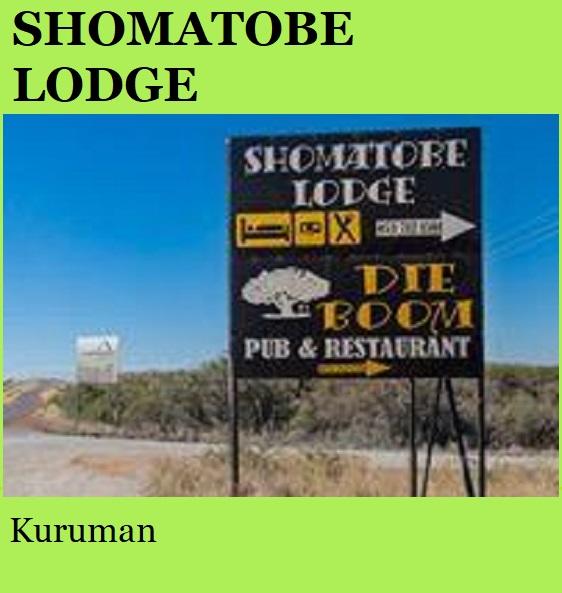 Shomatobe Lodge - Kuruman