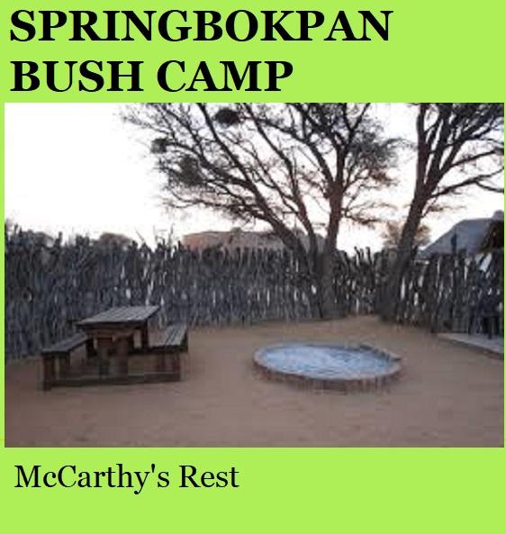 Springbokpan Bush Camp - McCarthy's Rest - Kalahari