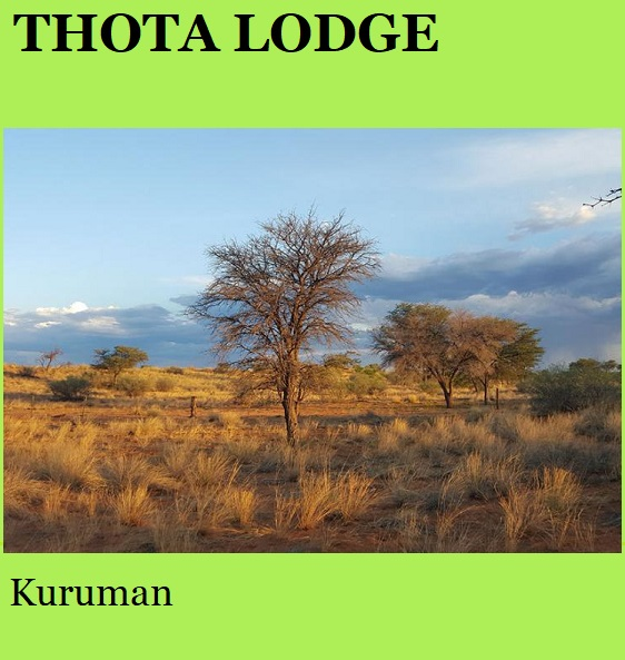 Thota Lodge - Kuruman