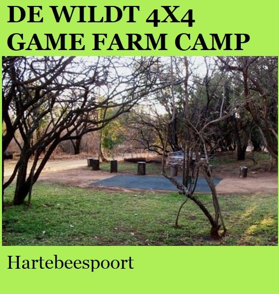 De Wildt 4x4 Game Farm Camp - Hartebeespoort