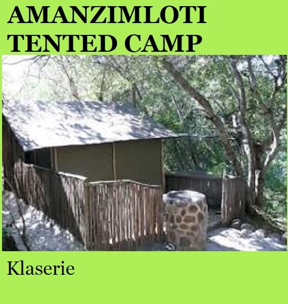 Amanzimloti Tented Camp- Klaserie