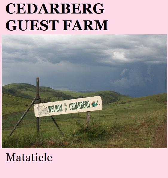 Cedarberg Guest Farm - Matatiele
