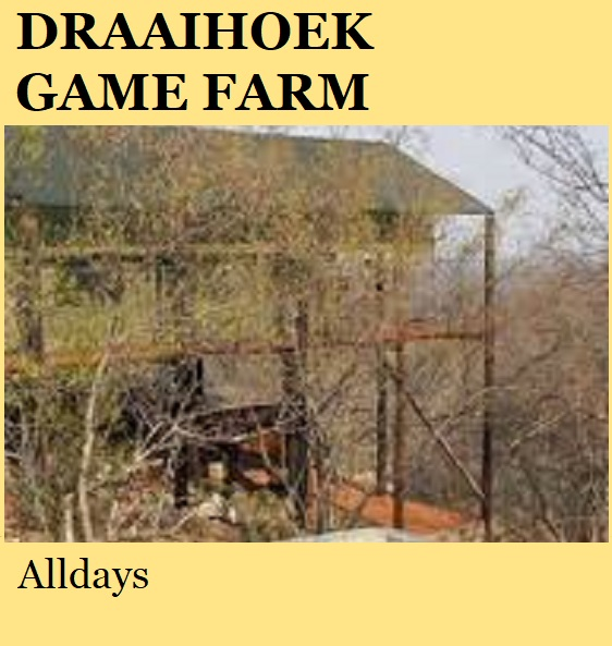 Draaihoek Game Farm - Alldays