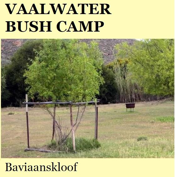 Vaalwater Bush Camp - Baviaanskloof