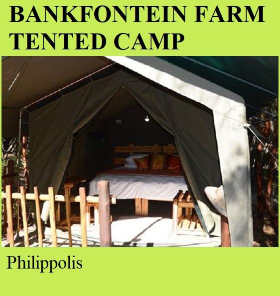 Bankfontein Farm Tented Camp - Philipolis