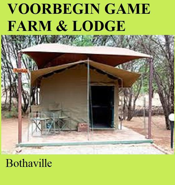 Voorbegin Game Farm and Lodge - Bothaville