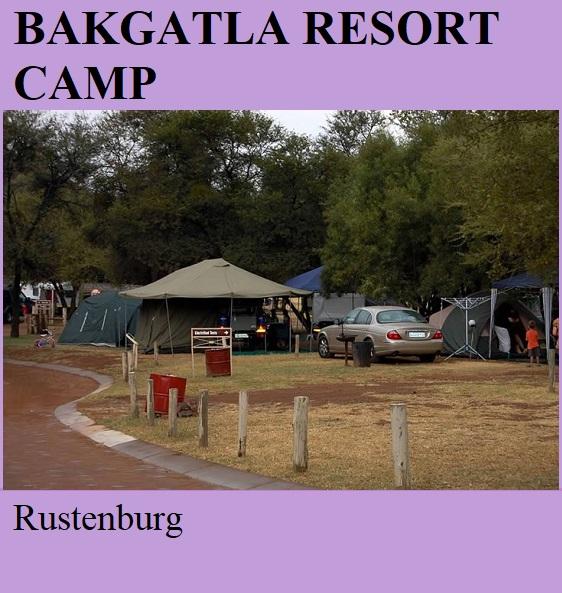 Bakgatla Resort Camp - Rustenburg