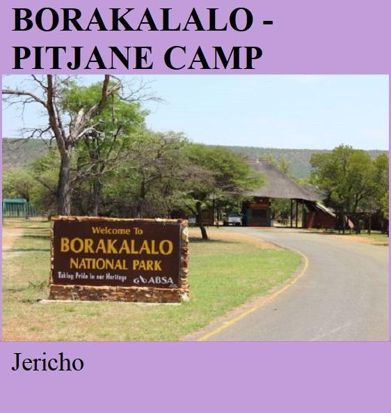 Borakalalo National Park Pitjane Camp - Jericho