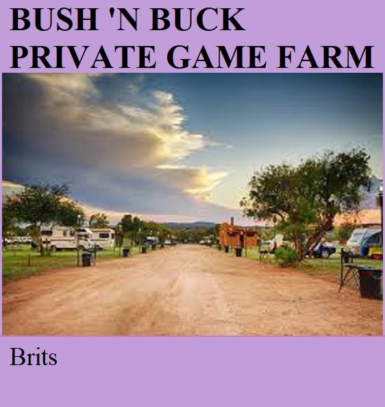 Bush 'n Buck Private Game Farm - Brits