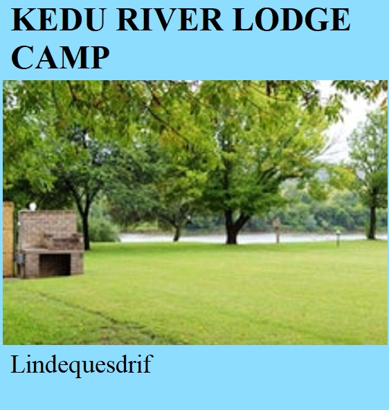 Kedu River Lodge Camp - Lindequesdrif