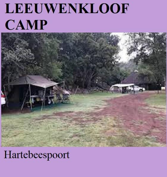 Leeuwenkloof Camp - Hartebeespoort