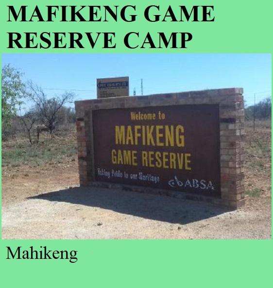 Mafikeng Game Reserve Camp - Mahikeng