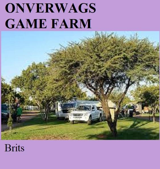 Onverwags Game Farm - Brits