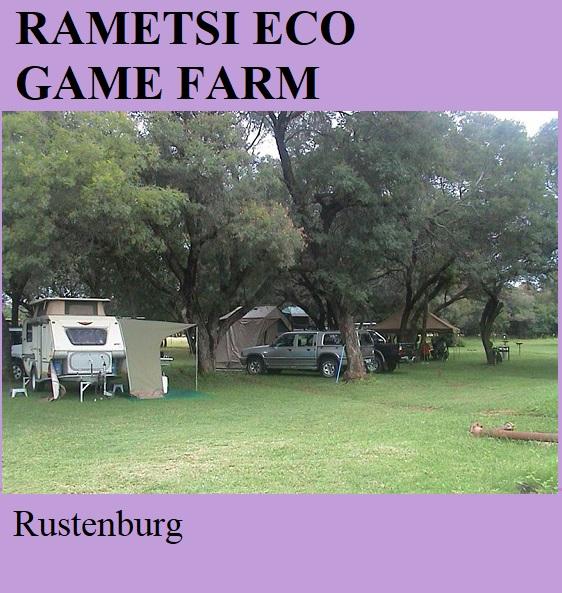 Rametsi Eco Game Farm - Rustenburg