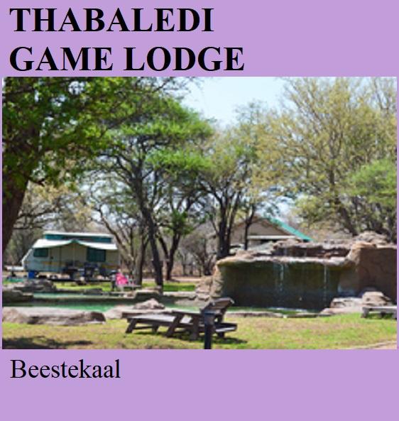 Thabaledi Game Lodge - Beestekraal
