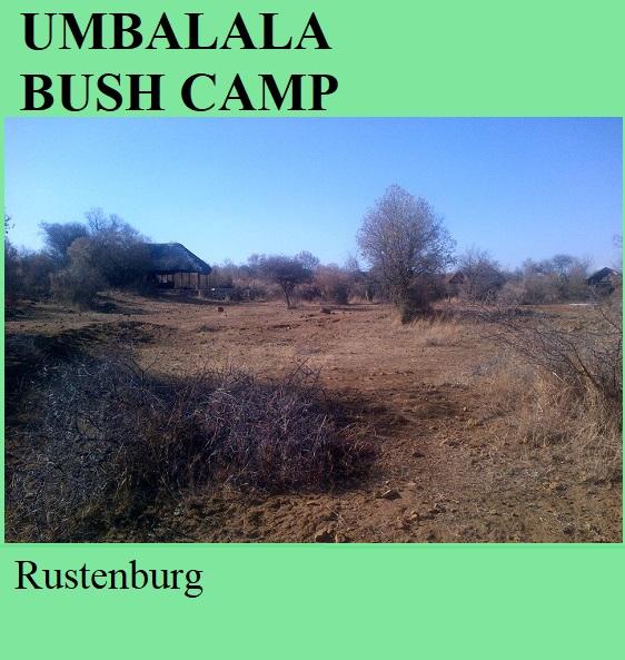 Umbalala Bush Camp - Rustenburg