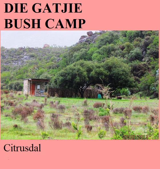 Die Gatjie Bush Camp - Citrusdal