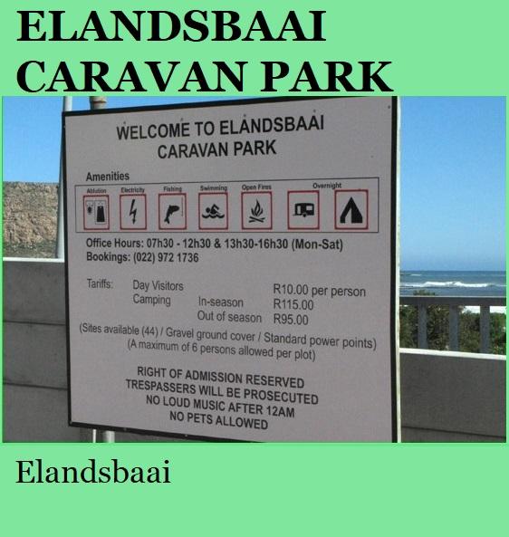 Elandsbaai Caravan Park - Elandsbaai