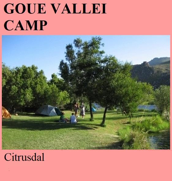 Goue Vallei Camp - Citrusdal