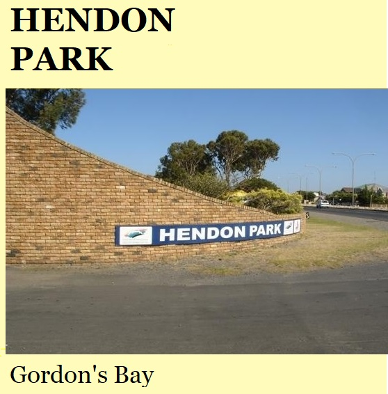 Hendon Park - Gordons Bay