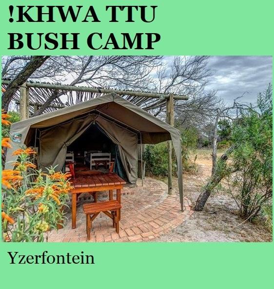 Khwa Ttu Bush Camp - Yzerfontein