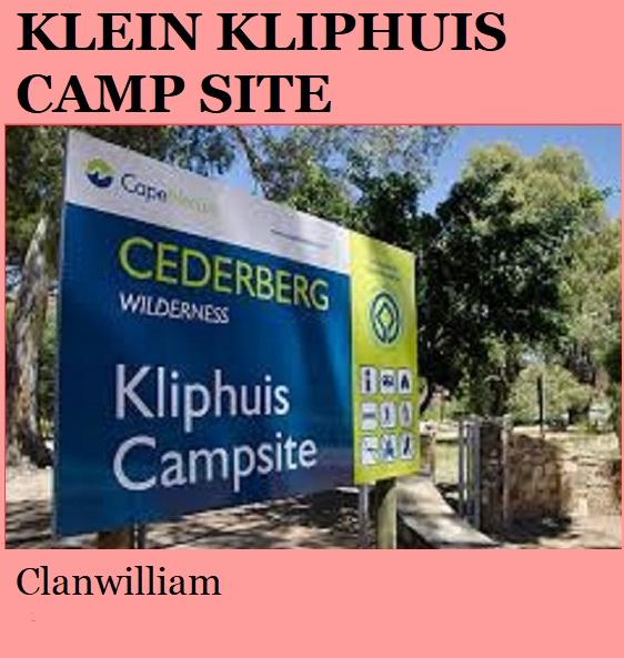 Klein Kliphuis Camp - Clanwilliam
