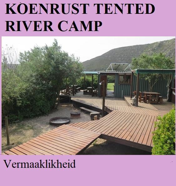 Koenrust Tented River Camp - Vermaaklikheid