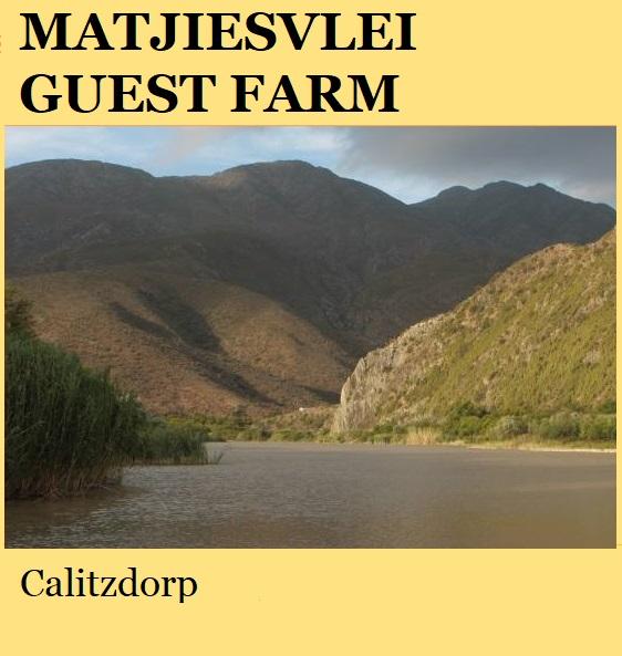 Matjiesvlei Guest Farm - Calitzdorp