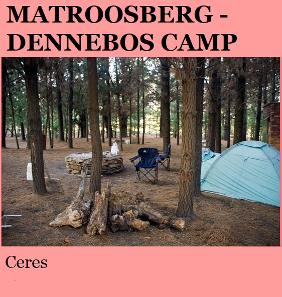 Matroosberg Dennebos Camp - Ceres